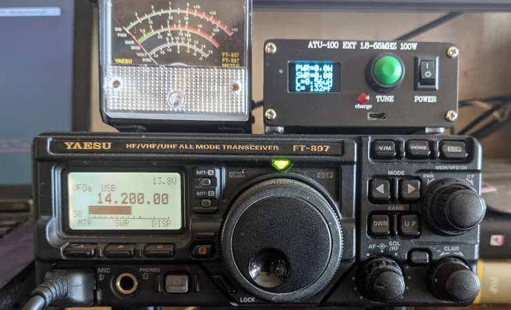 My own FT 897 radio rig